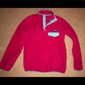 Pink Patagonia Synchilla Pullover